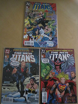 "NEW TEEN TITANS 119,120,121 : COMPLETE 3 ISSUE ""FOREVER EVIL"" story. DC 1995"