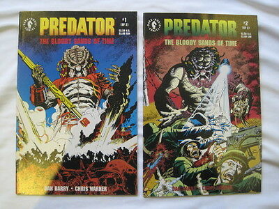 "PREDATOR : ""BLOODY SANDS of TIME"" complete 2 issue series by Barry & Warner.1992"