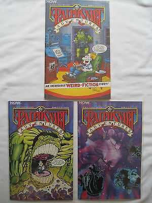 RALPH SNART ADVENTURES : COMPLETE 3 ISSUE SERIES by MARC HANSEN. NOW. 1986