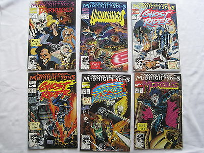 RISE of the MIDNIGHT SONS : GHOST RIDER etc.COMPLETE 6 ISSUE STORY. MARVEL.1992