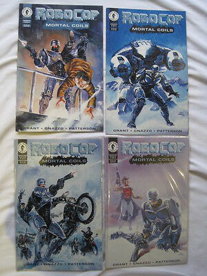 "ROBOCOP : ""MORTAL COILS"" complete 4 issue series by GRANT. DARK HORSE. 1993"