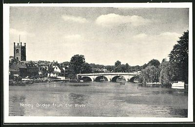 tolle AK Henley-on-Thames, Henley Bridge from the River