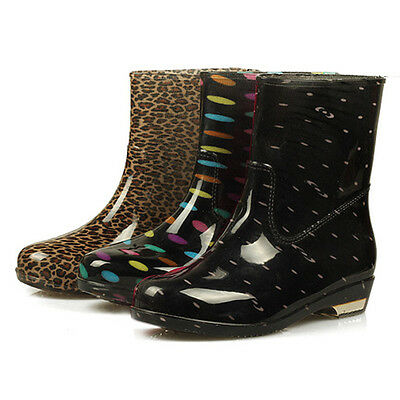 Fashion Womens Rain Boots Rubber 3 style to choose Ladies Wellies Mid-Calf boots