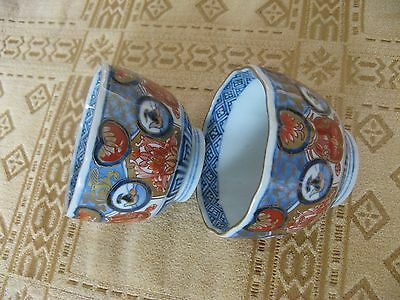 2 superb early 19th century japanese imari bowls.signed on base