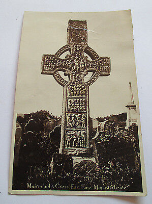 C.1940's RP Postcard,Muiredach's Cross Monaterboice Louth Ireland Irish