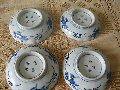 4 superb early 19th century japanese imari bowls.dishes.signed on base