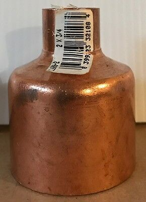 NIBCO 2 inch x 3/4 inch Copper Reducer Fitting - NEW -  Plumbing Fitting