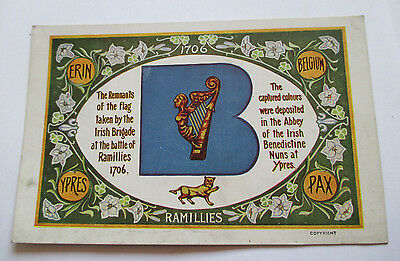 Irish Brigade Battle of Ramillies postcard, Erin Ypres Ireland 1706