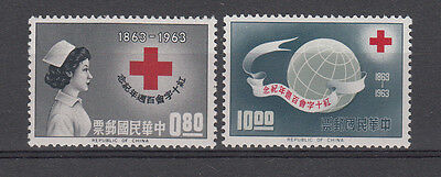 CHINA: TAIWAN 1963 Red Cross set of 2 perfect stamps.S G474/475. MUH/MNH
