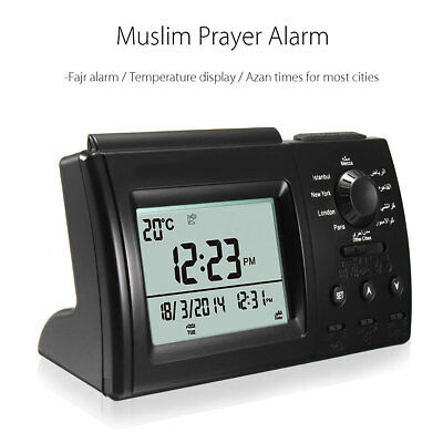 Digital Automatic Islamic Azan Muslim Prayer Alarm Adhan Table Calender Clock