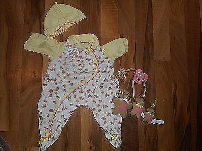 "2002 Zapf 19"" Chou Chou Baby Doll ""Mommy Make Me Better"" Clothes Bear Pacifier"