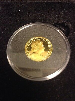 2014 Isle of Man 1/10oz Proof Gold Angel coin in Case