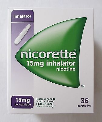 NICORETTE inhalator 15mg, 36 Cartridges (Boxed and Brand New)