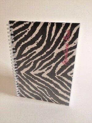 Zebra Print Mobile Appointment Book - Freelance Hairdressers, Beauticians etc.