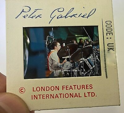 PETER GABRIEL  35mm Slide Negative -Original  UK Archives -  RARE Vintage Promo!
