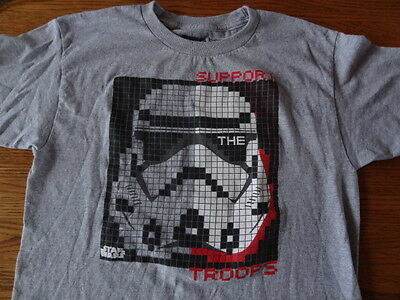 Star Wars Support The Troops T-Shirt - sz. Kids XL Stormtroopers