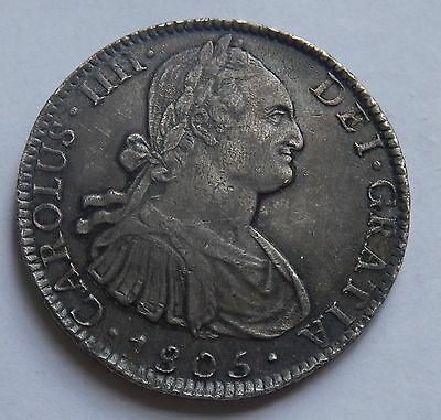 Mexico 8 Reales 1805 Carolus IIII Mexico Mint High Grade