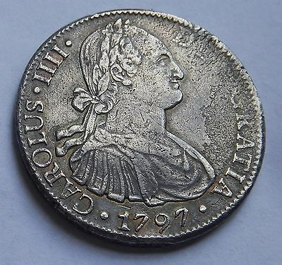 Mexico 8 Reales 1797 Carolus IIII Mexico Mint High Grade