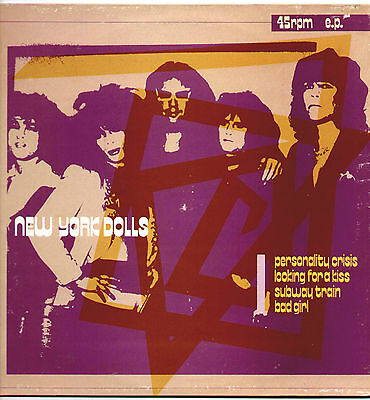 """New York Dolls ~ Personality Crisis ~ 1982 French 4-Track 12"""" Single + P/s"""