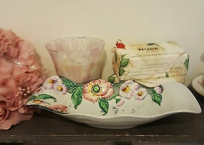 Carlton Ware Embossed Poppies & Daisies Wavy Edge Bowl  IMMACULATE