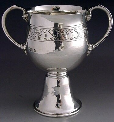 Beautiful Sterling Silver Arts & Crafts Mendip Fox Hunt Trophy Cup 1936 Antique