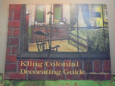 Vintage Kling Colonial Decorating Guide 68th Edition Highland IL Duvardo's