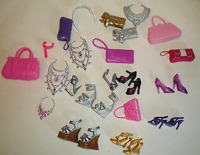 Barbie Doll Fashionistas Accessories Shoes Bags Jewellery Bundle