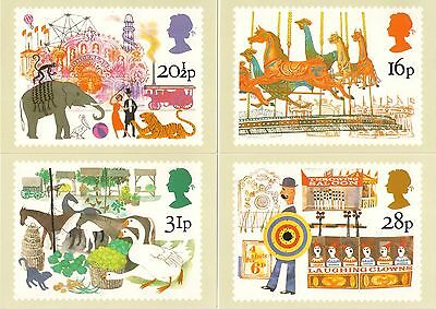 1983  **   A Full Set Of 4  Royal Mail Postcards   **  British Fairs  **  Mint