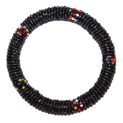African Maasai Masai Beaded Bracelet Bangle - Kenya Jewelry #10