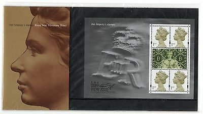 GB 2012 2000 Her Majesty's Stamps Presentation Pack. Miniature sheet. VGC