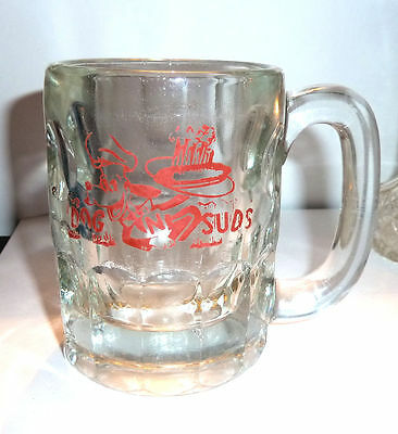 DOG N' SUDS Root Beer Mug Comic Dog Logo 1960s
