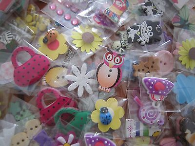 X 20 Mini Bags Of Embellishments For Card Making / Scrapbooking (Ref27)
