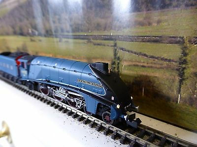 "Dapol n gauge A4 ""Sir Nigel Gresley"" sound working lamps fire effect crew fitted"