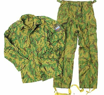 (1) Genuine Soviet Russian Army Uniform In Woodland Flora Camo & Badge 38 Chest