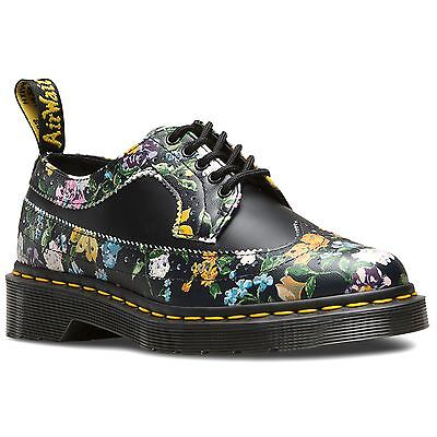 Dr.Martens 3989 Darcy Floral Black Womens Oxford Shoes Smooth Leather
