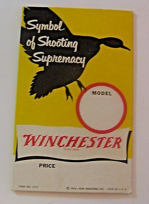 Scarce Vintage 1954 Winchester Hunting Advertising Sign ~ See All Our Gun Parts
