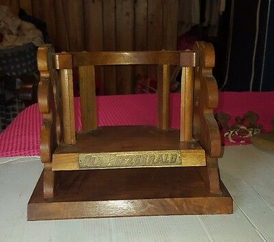Vintage Old Fitzgerald Bourbon Whiskey Gallon Bottle Display Wood Swing Cradle