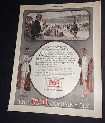 BVD Underwear Clothing Fashion Ad 1917 Pretty Lady  Handsome Man
