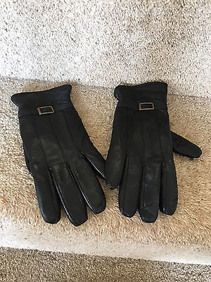 Ladies Beautiful Soft Leather Driving Gloves - Black - Size Small - Immaculate