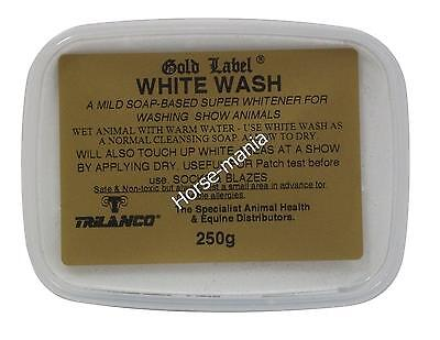 GOLD LABEL WHITE WASH WHITENER SOAP 250gm FOR SHOW CATTLE HORSES DOGS