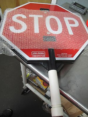 Usa - Sign Hand Held Led Flashing Stop Sign