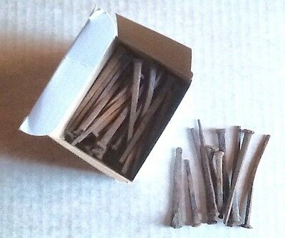 "Lot 40 Old Rusty Square Nails Most 3"" Long, Some Shorter"