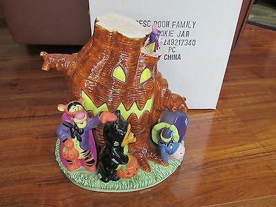 Disney Winnie the Pooh Family Halloween Tree Cookie Jar Tigger Piglet with Box
