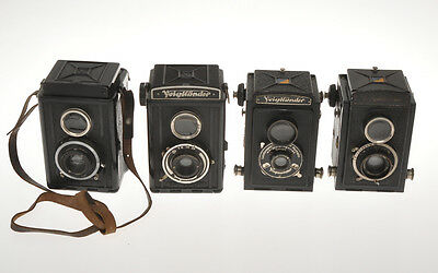 Voigtlander Brillant lot of 4 different models exc-/exc+ untested sold as is