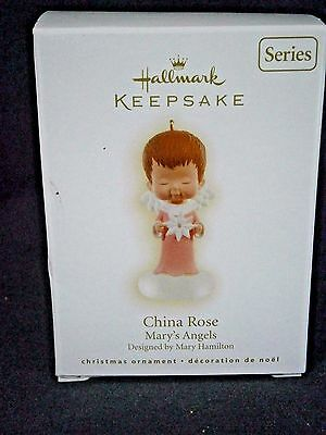 """Hallmark Mary's Angels """"china Rose"""" Ornament 22Nd In Series"""