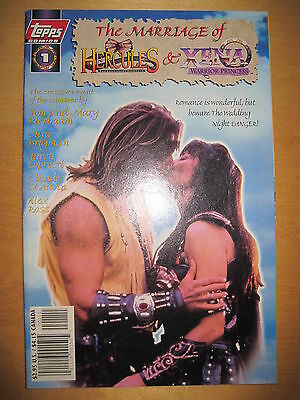 The MARRIAGE of HERCULES & XENA, WARRIOR PRINCESS : 1 SHOT. PHOTO CVR.TOPPS.1998