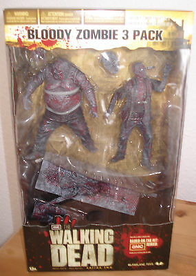 BLOODY ZOMBIE 3 PACK The Walking Dead TV SERIE 2 Set RV Well Bicycle Girl Box