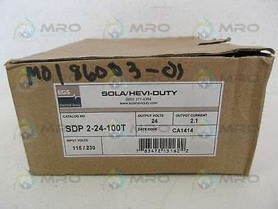 Egs Sola Sdp2-24-100T Power Supply *new In Box*