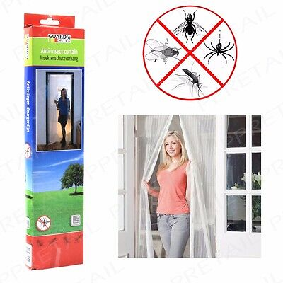 LARGE ANTI-INSECT DOOR MESH CURTAIN - Fly Mosquito Bug Spider Netting Net Screen