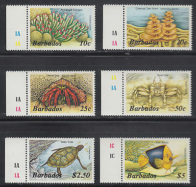Barbados 643//658 VF MNH 1985 QEII Fish Marine Life Pictorials 6 Different